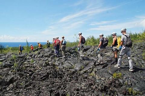 Sortie coulée de lave St Philippe